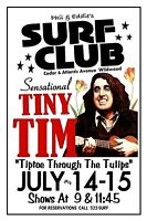 TINY TIM 1970 SURF CLUB Wildwood NJ Art Rendition POSTER THouse 2016