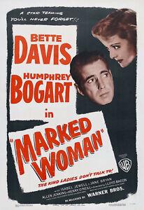 Marked Woman - 1937 - Bette Davis Humphrey Bogart Bacon Vintage Crime DVD