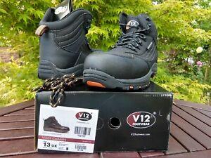 V12 CAIMAN Black Waterproof Hiker Safety Work Boots Composite Toe Midsole IGS