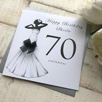 Handmade Personalised Birthday Card 16th 21st 30th 40th 50th 60th 70th 80th