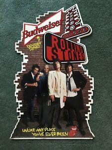 Vintage BUDWEISER/ ROLLING STONES Voodo Lounge  Metal Sign, 1994 Signet Graphic
