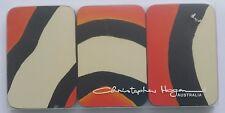 Set 6 Coasters Christopher Hogan Aust Clown Fish orange stripe NEW cork back