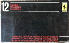 FERRARI BB 512  Service Book / Logbook / Warranty Card    169/79