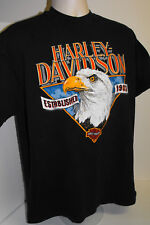 Harley Davidson T Shirt XL X-Large Dealer Costal Myrtle Beach SC USA Motorcycle