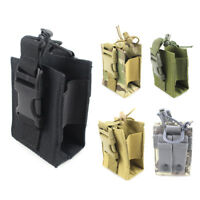 Tactical Molle Radio Pouch Case Walkie Talkie Pouch Holder Outdoor Mag Pocket