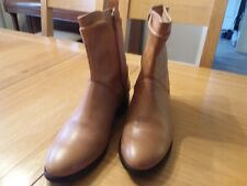 Tan Leather Ankle Boots Size 40 or uk7. Kurt Geiger Low Heel Ladies Ex Carvela