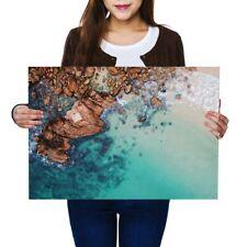 A2 - Clear Blue Sea Rocks Beach Poster 59.4X42cm280gsm #44624