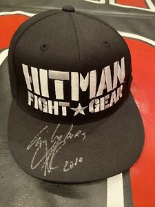 UFC Strikeforce Cris Cyborg Signed Auto Hitman Walkout Style Fitter Hat 7 1/4