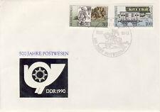 Ersttagsbrief DDR MiNr. 3354, 3357, 500 Jahre internationale Postverbindungen in