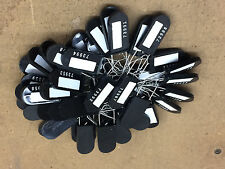 NEW 50 Black Wire Padlock Tamper Evident Safety Lock Electric Meter Tag Seal