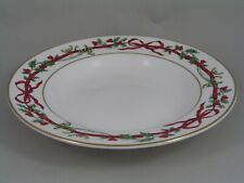 "ROYAL WORCESTER ""HOLLY RIBBONS"" 9 1/2""/24CM RIMMED BOWL."