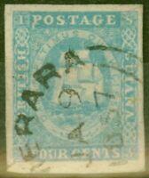 British Guiana 1855 4c Pale Blue SG20 Fine Used DEMERARA JA 9 57 CDS 4 Huge M...