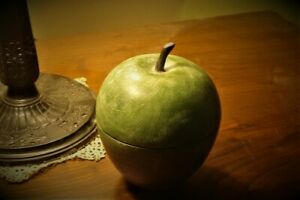 Hand  Carved Wood  Apple Teacher  Welcome Back to School Gift/Candy Box