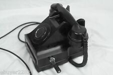 Vintage Antique Siemens Bros Telephone - Bakelite Crank Phone - London - Black