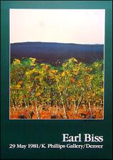 """Earl Biss """"Untitled"""" Hand Signed poster landscape  Make an Offer!!"""