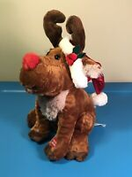 Fine Toy Animated Christmas Plush Singing Rudolph Red-Nosed Reindeer SEE VIDEO