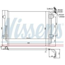 1 Condenseur, climatisation NISSENS 940256 convient à SEAT VW