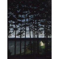 Sohlberg Fisherman's Cottage Landscape Forest Painting XL Canvas Art Print