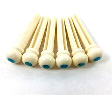 Bone w/Turquiose Dot Acoustic Guitar Bridge Pin Set BP-2848-000