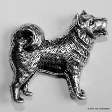 Husky Pewter Pin Brooch - British Hand Crafted - Alaskan Malamute, Akita Samoyed