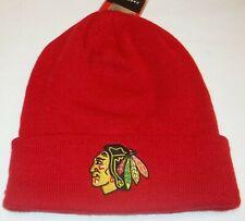 Chicago Blackhawks Cuffed Winter Knit Hat by Reebok - Adult Osfa - New