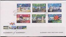 GB-Elementi di Guernsey 2004 EUROPA/Vacanze SG 1032/7 FDC FARI Fiori