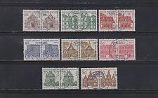 Briefmarken aus Berlin (1960-1969) mit Architektur-Motiv