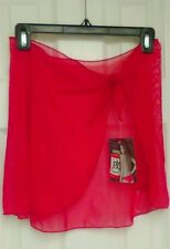NWT Jelly Mesh Wrap Skirt OS  Cherry Red