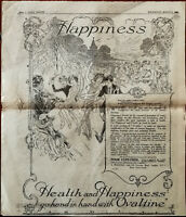 Ovaltine Health and Happiness Go Hand In Hand With Ovaltine Vintage Advert 1922