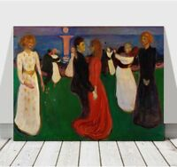 "EDVARD MUNCH - The Dance of Life - CANVAS ART PRINT POSTER - 18x12"""
