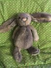 Jellycat Medium Woodland Bashful Bunny Grey Brown Plush Stuffed Toy Rabbit