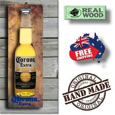 CORONA Extra 3D LOOK Rustic Wooden BAR Plaque / Sign (FREE POST) Stubby Image
