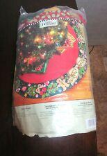 "Bucilla Engelbreit MARY'S WREATH Christmas Tree Skirt Kit 42"" #85466 Open Pkg"