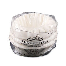 New listing Coffee Pro Basket Filters for Drip Coffeemakers 10 to 12-Cups White 200 Filters