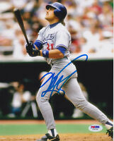 Mike Piazza Signed 8x10 Los Angeles Dodgers Photo - MLB LA Home Run 2 PSA/DNA
