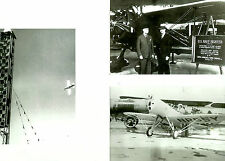SET OF 3 - LOT #23  B&W 4X6 PHOTOGRAPHS - RACING AIRPLANES & AVIATION
