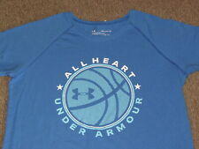 Under Armour Kids Girls Blue Basketball Star Graphic Raglan Sleeve T Shirt XL