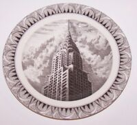 "LOVELY 222 FIFTH SLICE OF LIFE CHRYSLER BUILDING KENT BARTON 8"" SALAD PLATE"
