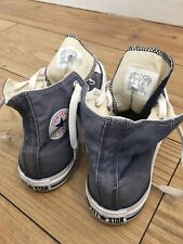 Denim Look Hi Top Blu Converse Da Baseball Sneaker con Bambino Taglia 13UK 31.5 EUR