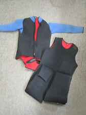 New listing Fathom Full Body Wetsuit 2 piece Dive Snorkel Wet Suit XL blue black red x-large