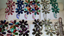 Joblot 12 pcs Flower Design Diamante hairclips hairgrips NEW wholesale lot 4