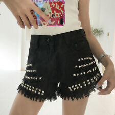 New Arrival Rivet Solid Chic Short - Black