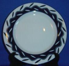 Dansk Allegro Blue Accent Salad Plate Single Leaves On Wavy Ring Sri Lanka