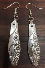 Antique Vintage Spoon/ Fork Community Evening Star Earrings Silverware Jewelry