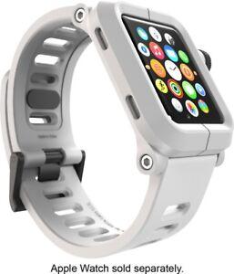 LUNATIK EPIK Polycarbonate Case + Silicone Band for Apple Watch 42mm - White VG