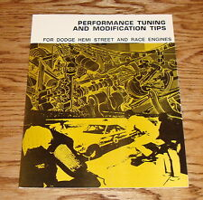 1964-1971 Dodge Hemi Street & Race Engines Performance Tuning Modification Tips