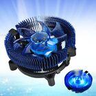 pccooler e92f a 4 pin PWM LED Ventola CPU Blu Dissipatore di calore per 775 115x