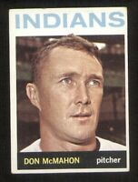 Don McMahon of the Indians on a 1964 Topps card #122 EX/MT condition