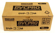 Box of 10 New Maxell DVCPRO DVP-33M Digital Video Cassettes