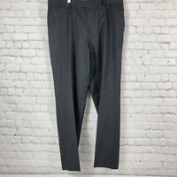 Hugo Boss James Brown Dark Gray & Purple Check Stripe Virgin Wool Pants    0544